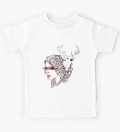 deer girl Kids Tee