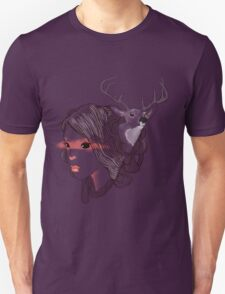 deer girl Unisex T-Shirt