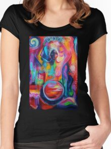 Rise of the Divine Feminine 1 Women's Fitted Scoop T-Shirt