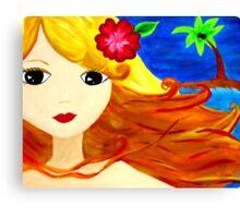 aloha luv chick Canvas Print