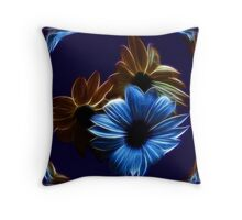 Electrified Daisies Throw Pillow