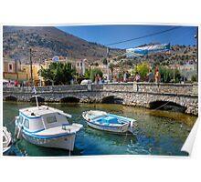 Gialos harbour bridge Poster