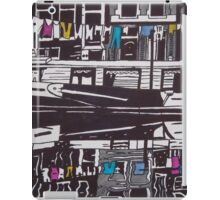 Washing line on a boathouse in Amsterdam iPad Case/Skin