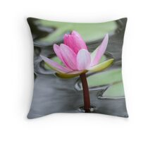 Perect Pink Pond Lily Ripple Throw Pillow