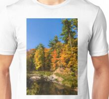 Impressions of Forests - Autumn on the Riverbank Unisex T-Shirt