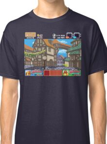 Town View - Cute Monsters RPG - Pixel Art Classic T-Shirt
