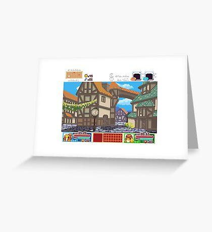 Town View - Cute Monsters RPG - Pixel Art Greeting Card