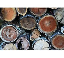 Firewood Patterns Photographic Print