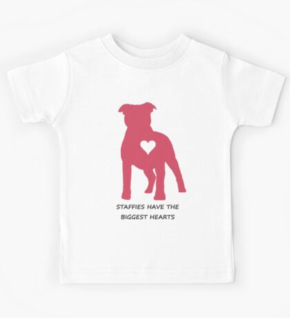 Staffies have the biggest hearts Kids Tee