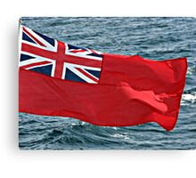 Westering Home - Red Flag and Blue Sea Canvas Print