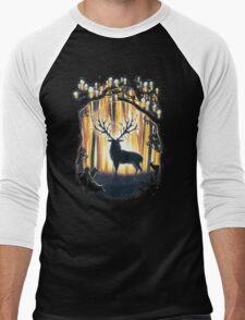 Deer God Master of the Forest Men's Baseball ¾ T-Shirt