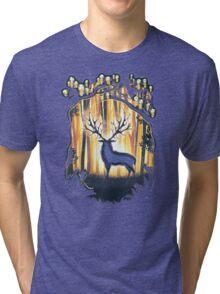 Deer God Master of the Forest Tri-blend T-Shirt