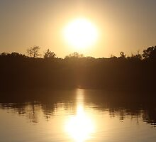 Sunset on Wonder Lake, IL by nielsenca13
