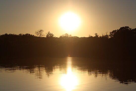 Sunset on Wonder Lake, IL by nielsenca13
