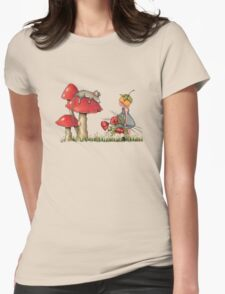 Sleeping Mouse, Toadstool, Girl and Poppies T-Shirt