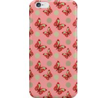 Red Oriental Butterflies iPhone Case/Skin