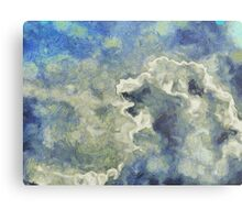 Clouds Vincent Style Metal Print