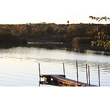 Ripples on the Lake- Wonder Lake, IL Photographic Print