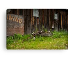 Old Mining Town Canvas Print