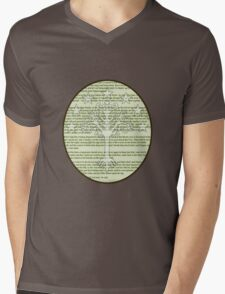 Lord of the Rings - Return of the King - White tree of Gondor Mens V-Neck T-Shirt