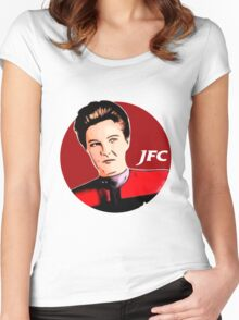 Janeway Fried Chicken Women's Fitted Scoop T-Shirt