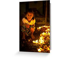 glowing  star Greeting Card