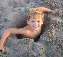Fun at the beach by Nina Hofstadler