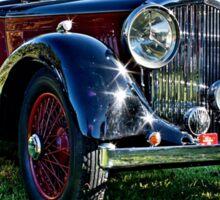 Red and Black Vintage Bentley Sticker