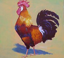 Rooster Brown Leghorn by Tomas O'Maoldomhnaigh