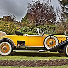 1930's Yellow Packard at Carrack Hill by Ferenghi