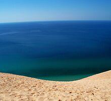 Dunes and Lake Michigan.. pure beauty by Sandee Jones