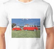 Volkswagen Microbus with matching Caravan Unisex T-Shirt