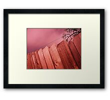 Welcoming Fence Framed Print