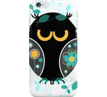 Whimsical Owl Floral Pattern Vector Illustration iPhone Case/Skin