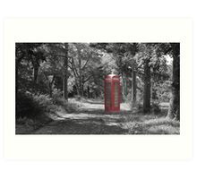Telephone Booth Forest Art Print