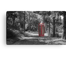 Telephone Booth Forest Canvas Print