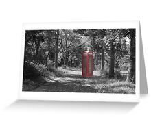 Telephone Booth Forest Greeting Card