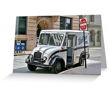 Milk Truck Delivery In The Financial District - Providence, Rhode Island Greeting Card