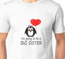 Big sister for sibling penguin cartoon geek funny nerd Unisex T-Shirt