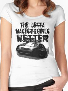 The Jetta Makes The Girls WETTER Women's Fitted Scoop T-Shirt