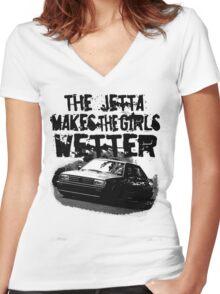 The Jetta Makes The Girls WETTER Women's Fitted V-Neck T-Shirt