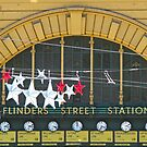 Melbourne - Festive Flinders St Station by Maureen Keogh