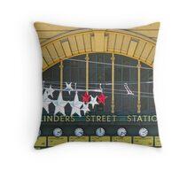 Melbourne - Festive Flinders St Station Throw Pillow