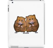 Hamster Couple, Cute Whimsical Art, Two Hamsters iPad Case/Skin