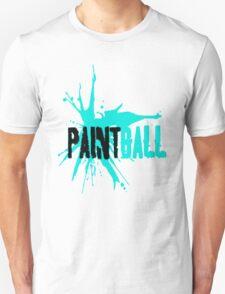 Paintball Aqua Blue-Black T-Shirt