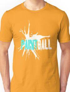 Paintball Aqua-White Unisex T-Shirt