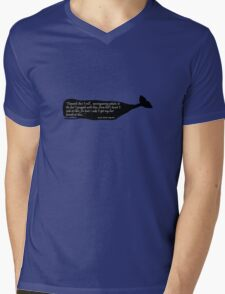Black whale moby dick quote geek funny nerd Mens V-Neck T-Shirt