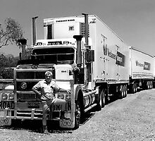 Triple Road Train with Truckie by Julia Harwood