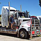 Truckie with his Kenworth T904 by Julia Harwood