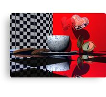 Tea Time for Alice Canvas Print